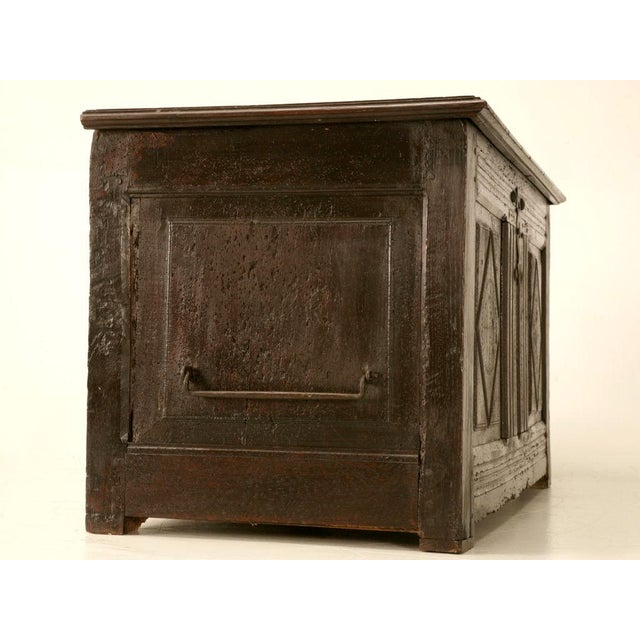 Antique French Carved Two-Panel Coffer For Sale - Image 11 of 11