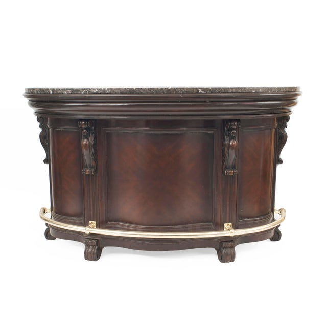 Mid 20th Century American Victorian Style Stained Wood Bar For Sale - Image 5 of 12