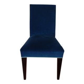 Mitchell Gold Royal Blue Velvet Desk Chair For Sale