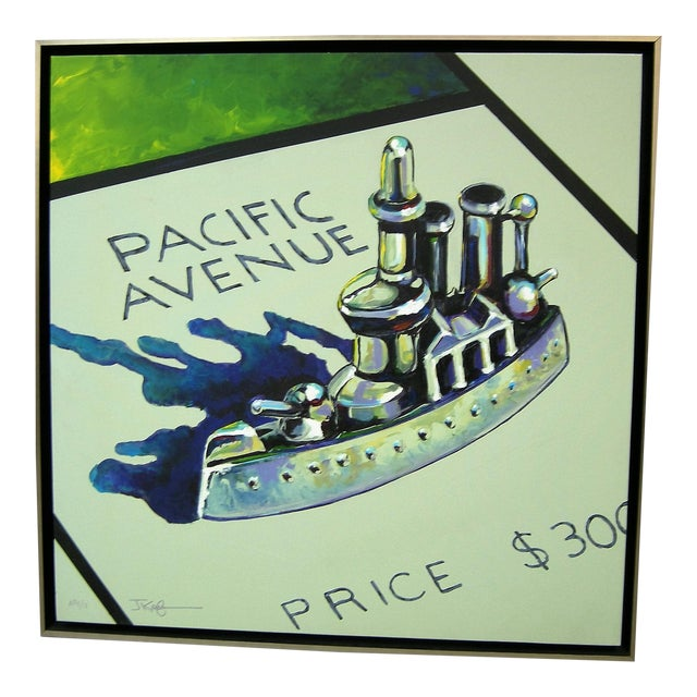Monopoly Battleship Original Painting - Image 1 of 4