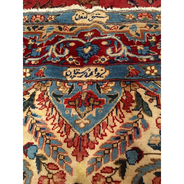 Antique Yazd Persian Carpet - 6′6″ × 9′7″ For Sale - Image 4 of 10