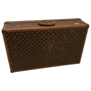 Louis Vuitton Suitcase Trunk With Key For Sale