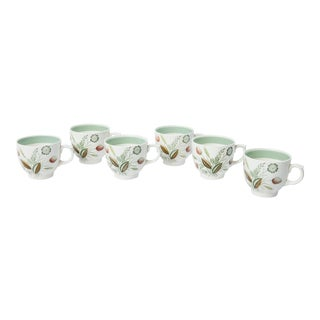 Madcap Cottage 19th-Century Woodland-Themed Teacups, S/6 For Sale