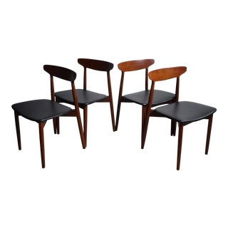 Harry Ostergaard for Randers Møbelfabrik Teak Dining Chairs - S/4