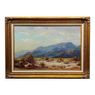 Paul Grimm Mojave Desert Landscape in Palm Springs -California Oil Painting For Sale