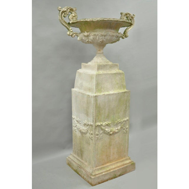 """Item: Large 72"""" H Garden Urn Water Fountain made of Molded Fiberglass in the Classical style Details: Large substantial..."""
