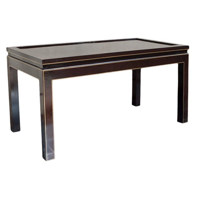 Contemporary Black Lacquer Coffee or Cocktail Table For Sale