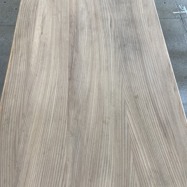 French Bleached Walnut Trestle Table For Sale - Image 9 of 13