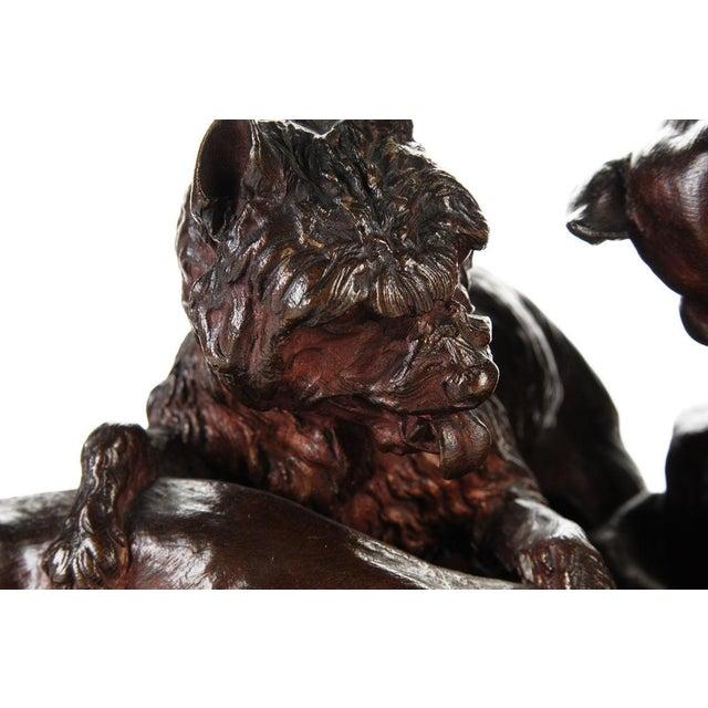 """Pierre-Jules Mene '3 dogs Ferreting"""" Original Bronze Sculpture c.1890s - Image 9 of 11"""