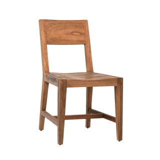 Raw Teak Wood Dining Chair For Sale