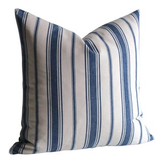 French Ticking Stripe Pillow Cover 18x18 For Sale