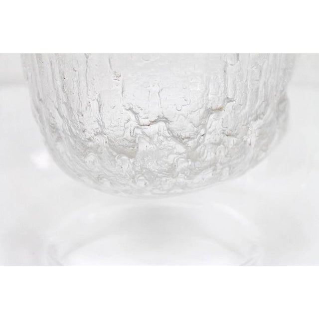 "1960s Large Timo Sarpaneva Iittala ""Finlandia"" Glass Bowl For Sale - Image 5 of 11"