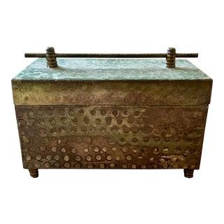 Art Deco Brass Trinket Box For Sale