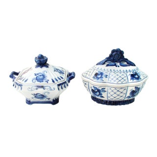 Russian Porcelain Tureens- Set of 2 For Sale