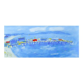 Monumental Santa Monica Pier Oil Painting by Martha Holden For Sale