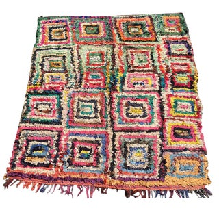 Dylan Moroccan Boucherouite Rug - 6′ × 6′4″ For Sale