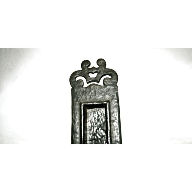 Late 19th Century Cast Iron Nouveau Knocker W/Letter Slot For Sale - Image 5 of 10