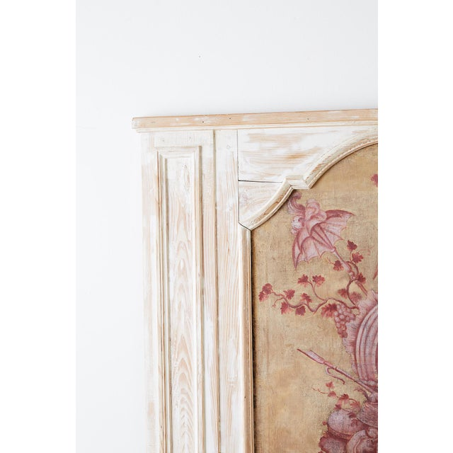 Late 19th Century 19th Century French Provincial Painted Trumeau Mirror For Sale - Image 5 of 13
