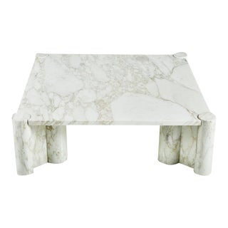 Gae Aulenti Large Marble Coffee Table For Sale
