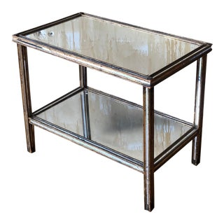 Italian Vintage Mirrored Glass Table For Sale