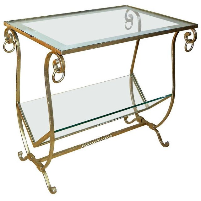f8b5c2a058 1990s Traditional Gilt Metal Magazine Rack Side Table For Sale - Image 11  of 11