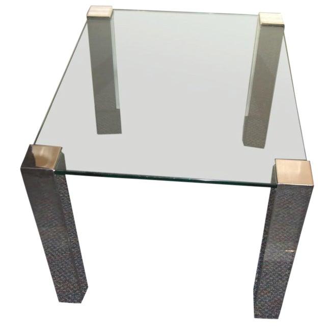 1964 Paul M. Jones Fm 97 Aluminum Legged Glass Table For Sale