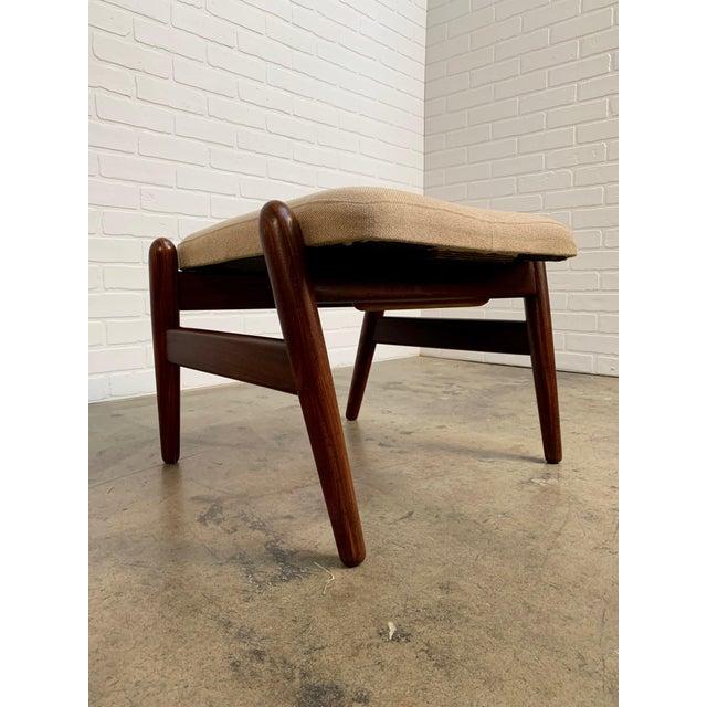 i.b. Kofod-Larsen High Back Lounge Chair Model Pd30 With Ottoman, Circa 1960 For Sale - Image 9 of 13