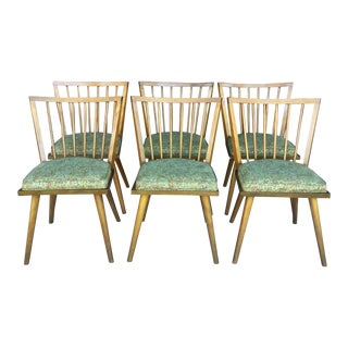 1960s Mid-Century Modern Leslie Diamond for Conant Ball Dining Chairs - Set of 6 For Sale