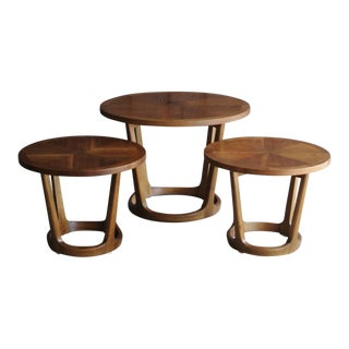 Lane Rhythm Adrian Pearsall-Style Walnut Tables - Set of 3