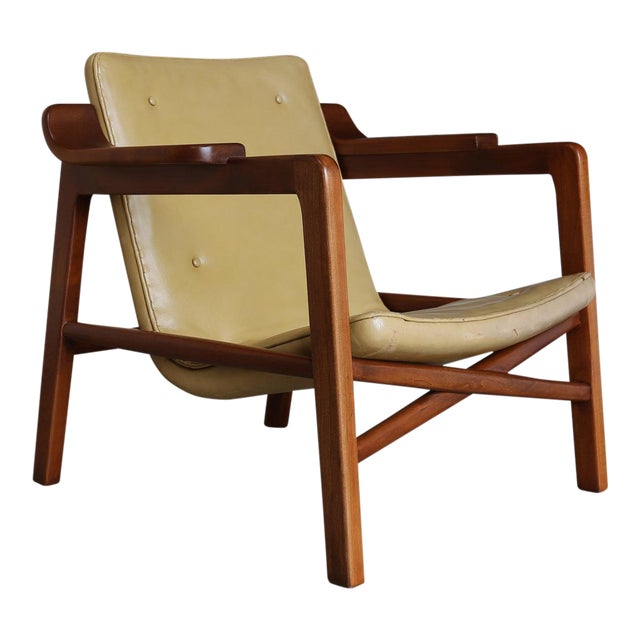 """Tan MId Century Tove & Edvard Kindt Larsen """"Fireplace"""" Chair For Sale - Image 8 of 8"""