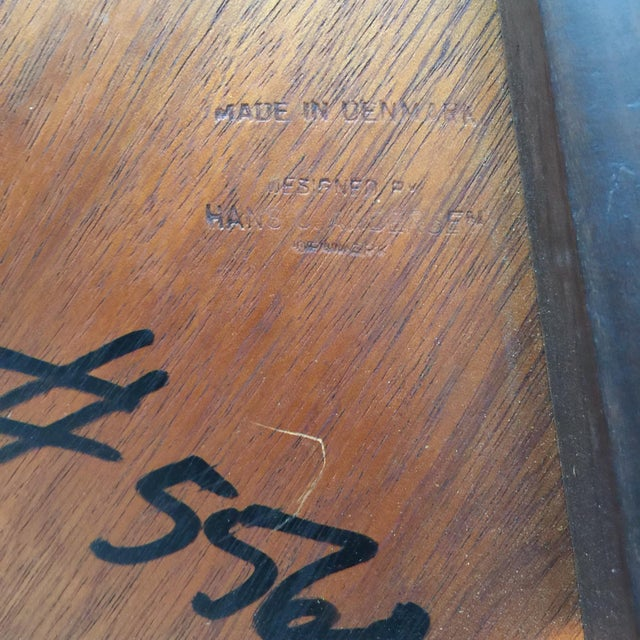 Rosewood Impeccable Hans C. Andersen Danish Rosewood Round Coffee Table For Sale - Image 7 of 8