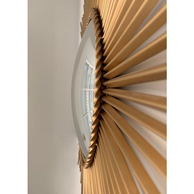 Mid-Century Modern Sunburst Convex Mirror For Sale - Image 4 of 7