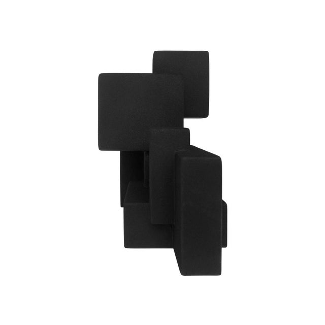 """Negative Space 5.3"" matte black sculpture in rubber finish by Dan Schneiger, 2019. Miami based architect and artist Dan..."