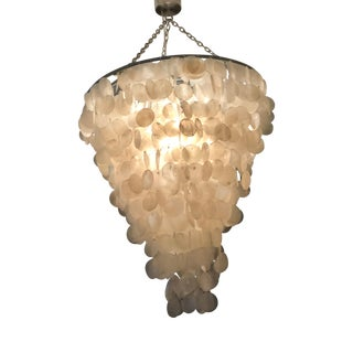 Shell Chandelier With Metal Attachments