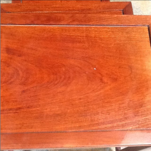 4-Piece Chinese Rosewood Nesting Tables For Sale In Dallas - Image 6 of 6