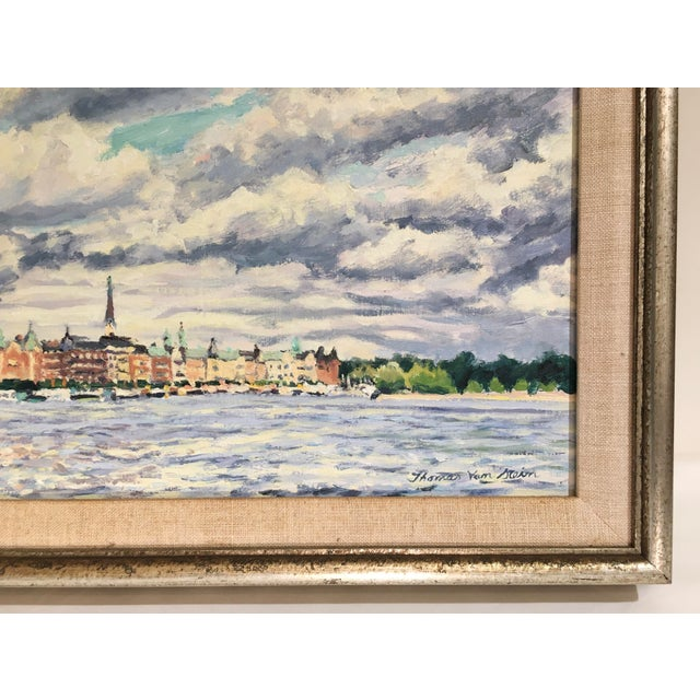 """Old Stockholm"" Oil on Canvas Painting by Thomas Van Stein For Sale - Image 9 of 13"