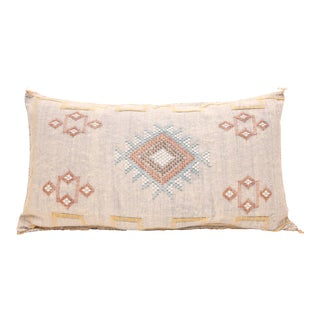Moroccan Sabra Cactus Silk Pillow Lumbar For Sale