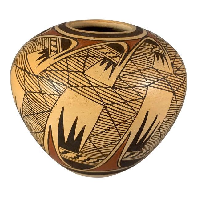 Late 20th Century Miriam Nampeyo Hopi Polychrome Seed Pot For Sale