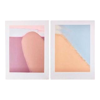 Jim Kelley Postmodern Abstract Mezzotints - A Pair