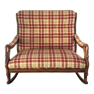 Mid-Century Antique Double Rocking Chair For Sale