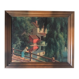 "Vintage Paul Detlefsen Landscape Print ""Good Old Summertime"""