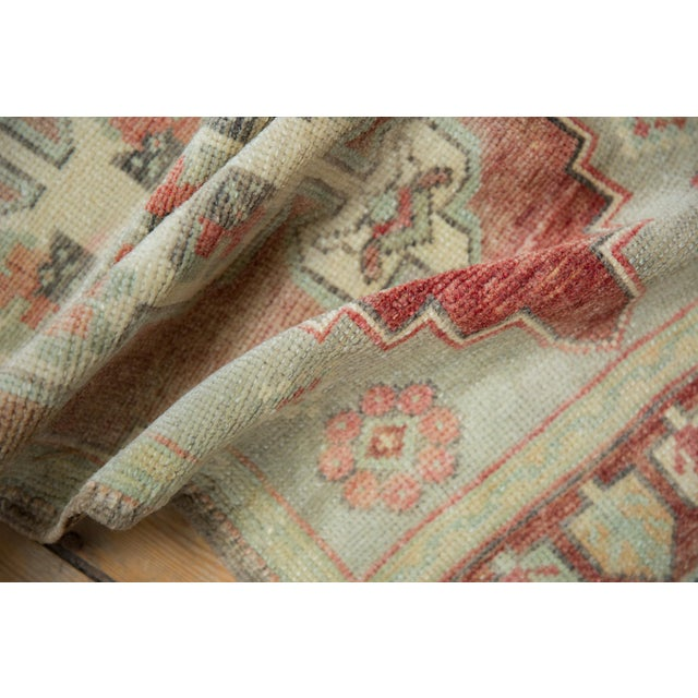 """Shabby Chic Vintage Distressed Oushak Rug Mat Runner - 1'7"""" X 3'6"""" For Sale - Image 3 of 8"""