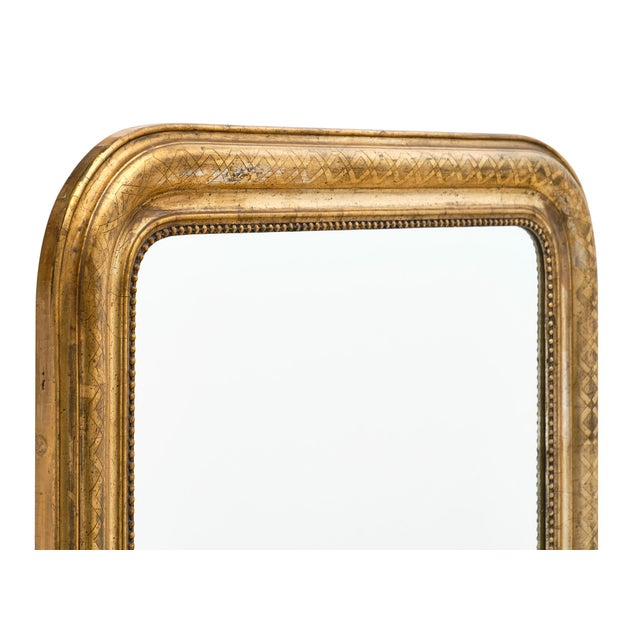 Art Deco Antique French Louis Philippe Period Mirror For Sale - Image 3 of 10