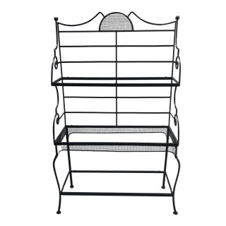 Woodard Sculptura Wrought Iron Bakers Rack For Sale