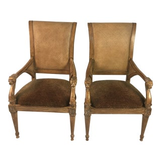 1980s Mid-Century Modern Camel Velvet Arm Chairs - a Pair For Sale