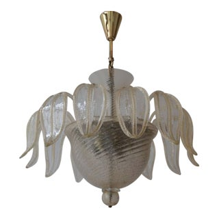 Italian Murano Glass Chandelier by Barovier & Toso For Sale