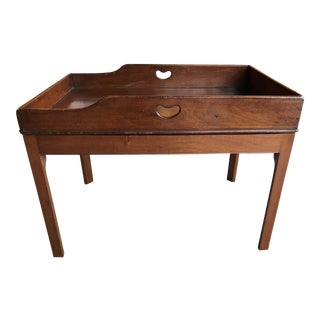 19th Century English Traditional Mahogany Butler's Tray Table For Sale