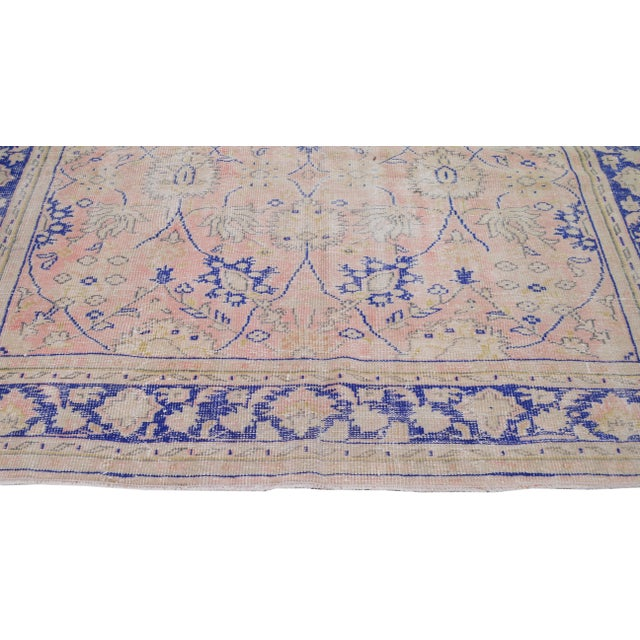 """Vintage Turkish Hand Knotted Whitewash Organic Wool Fine Weave Rug,7'9""""x10'6"""" For Sale - Image 4 of 7"""