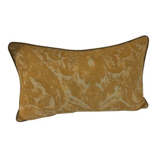 Fortuny Gold Lumbar Pillow For Sale