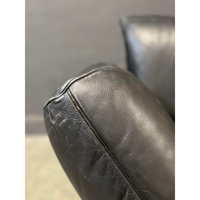 Black De Sede Leather Sofa For Sale - Image 8 of 12